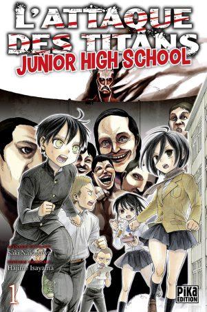 Attaque des Titans - Junior High School  T.01 | 9782811625245