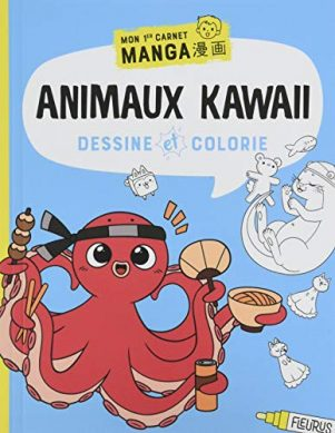 Dessine et colorie: animaux kawaii | 9782215175063
