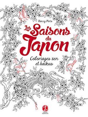 Saisons du Japon (Les): coloriages zen et haikus   9782954312583